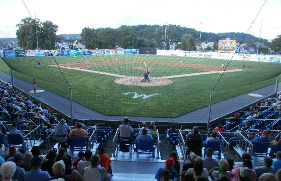 Looking Out At The Field From Beyond Home Plate