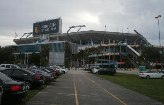 Walking Up To The Right Field Entrance To Sun Life Stadium, Aug 2011.
